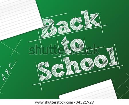 back to school background illustration design