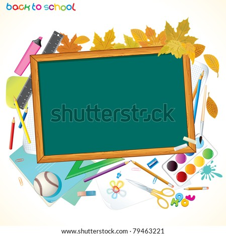 Back To School Background with Copy space