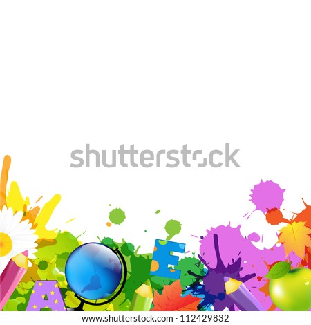 Back To School Border, Isolated On White Background