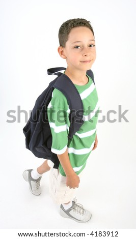 Back to school - boy with backpack