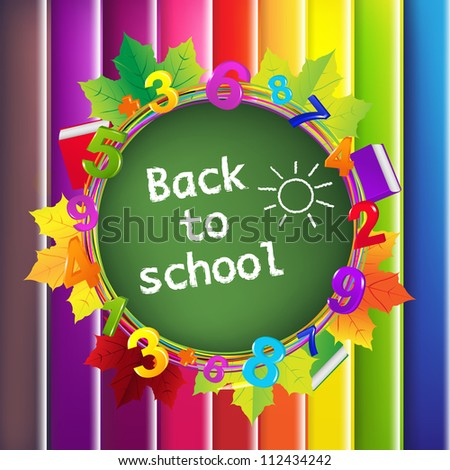 Back To School Color Background