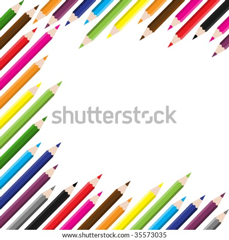 back to school colored pencil background , raster version of Image ID:35135059