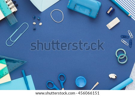 Back to school. Colorful composition of school supplies: crayons, scissors, markers, globe, rulers, paints. Copy space. Vibrant color background. Copy space.
