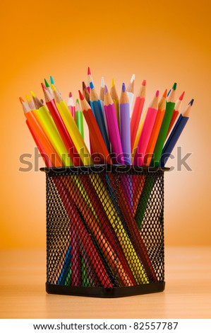 Back to school concept with colorful pencils
