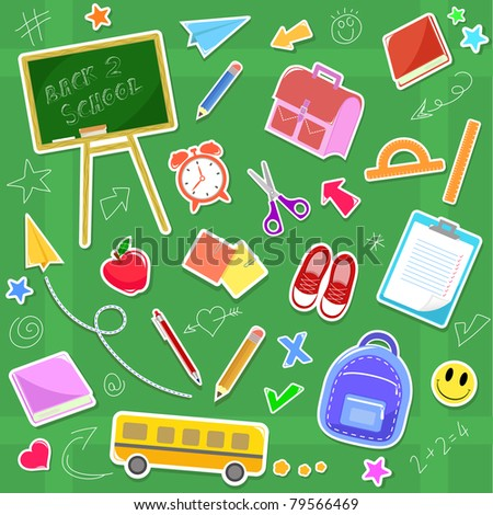 back to school icon set (raster version)