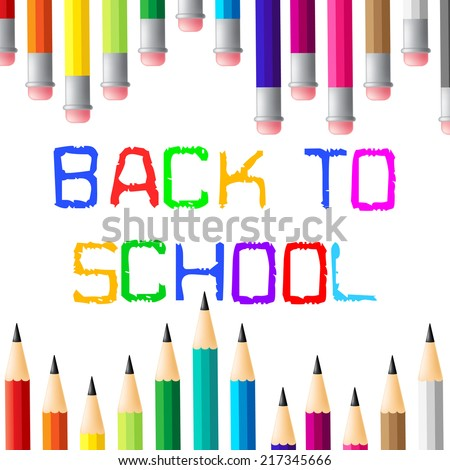 Back To School Indicating Learning Learn And Schooling