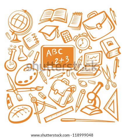 Back to school - many isolated education objects. Vector version also available in gallery