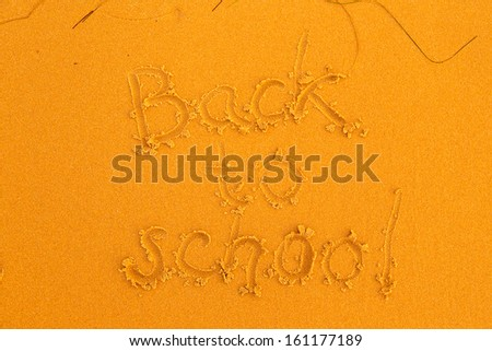 back to school sand text background