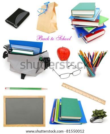 Back to school stuffs  on school day