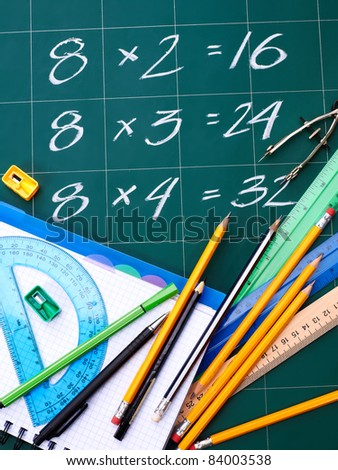 Back to school supplies. Still life. - stock photo