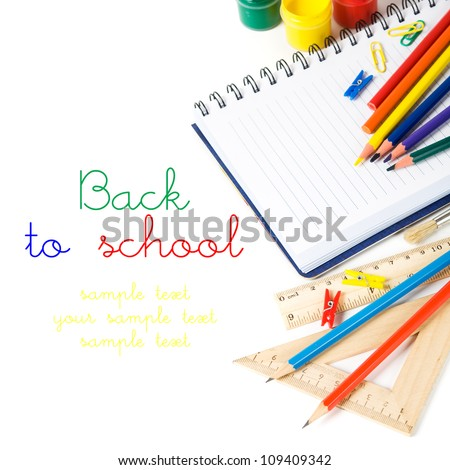 Back to school theme with copy space