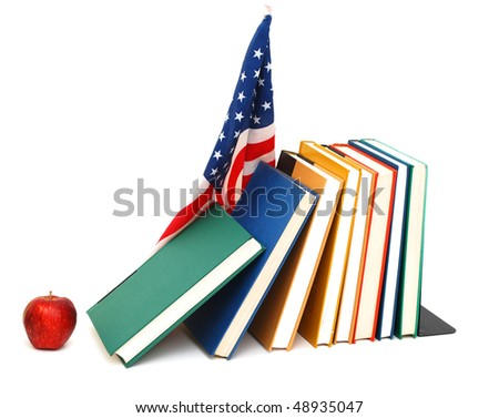 back to school with us flag