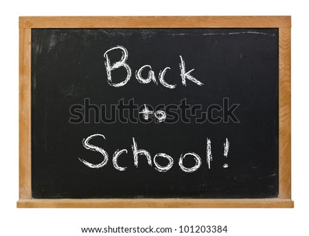 Back to School written in white chalk on a black chalkboard