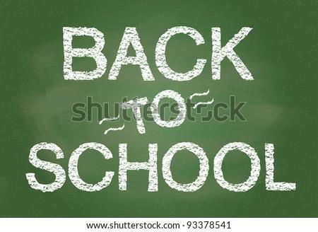 Back To School written on blackboard illustration