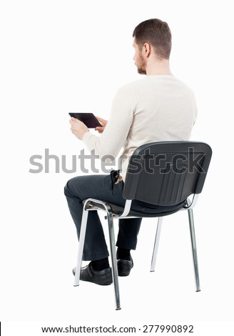 how to draw a person sitting down back view