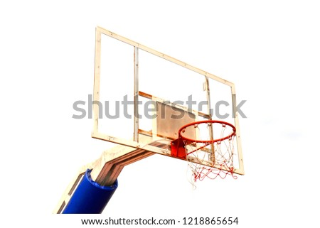 backboard isolated on white background / backboard basketball court outdoor on public park - Shutterstock ID 1218865654