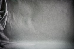 Backdrop crumpled fabric texture, cloth background