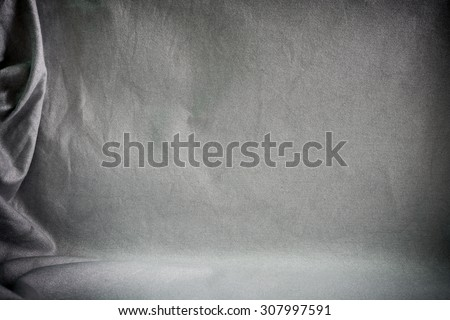 Backdrop crumpled fabric texture, cloth background #307997591