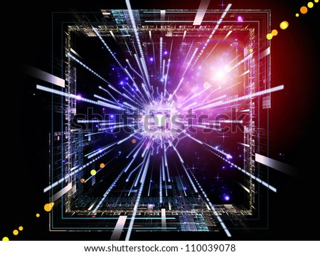 Backdrop of CPU graphic and abstract design elements on the subject of digital equipment, computing and modern technologies