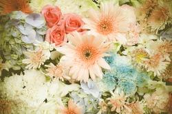 Backdrop of flower vintage style