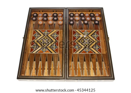 Backgammon - board game on a white background.