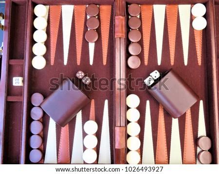 opstilling af backgammon