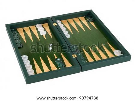 backgammon isolated on white background