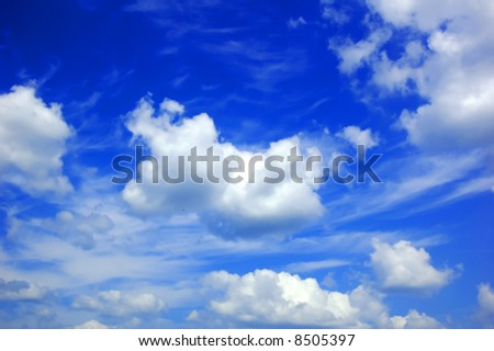 Background abstract: blue sky and clouds - stock photo