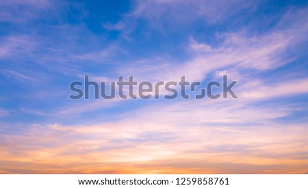 background abstract blue sky evening time beautiful in Thailand #1259858761
