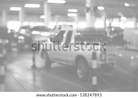 Background abstract blurred of Parking lot #538247893