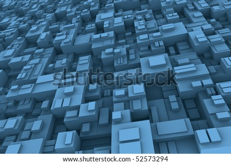 Background abstract concept with cubes diferent shape and size.