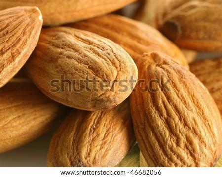 background almonds