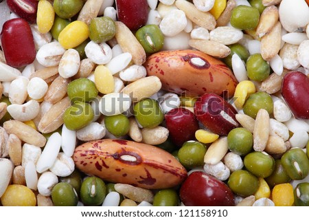 background and texture of  All kind beans and legumes mix, great for health concept