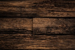 background and texture of old wood stripe decorative fence wall surface