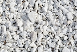Background and texture of white decorative stones