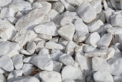 Background and texture of white decorative stones.