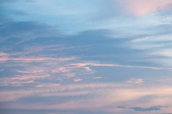 background and  textures of sky sunset cloudy in evening