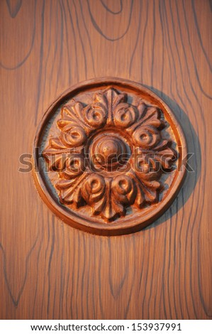 Background backdrop wood joinery flower in circle work