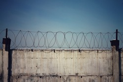 background barbed wire fence