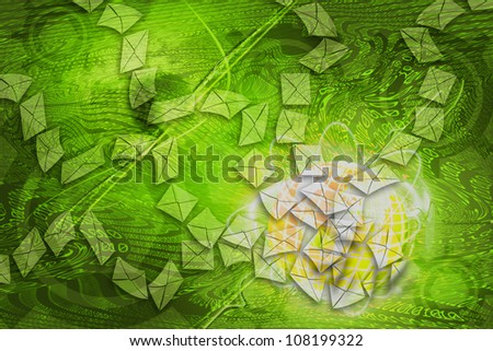 background binary abstract letters. - stock photo