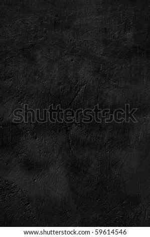 Background black plastered wall