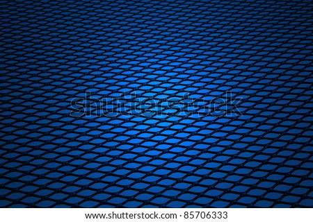 Background, blue gauze.