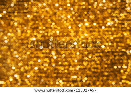Background Bokeh Lights Gold
