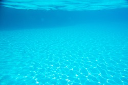 background, bottom of the pool with water reflection