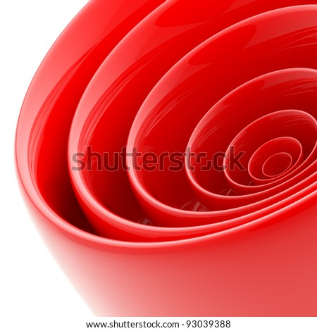 Background bright and glossy made of abstract plastic red circles