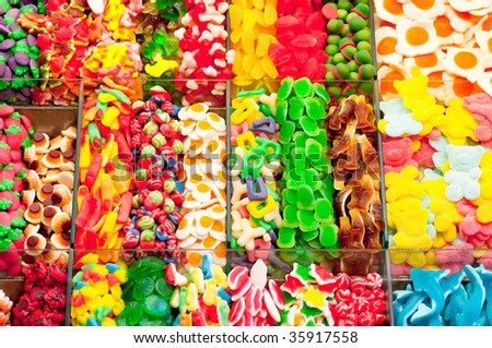Background candy trexture full with colorful sweets