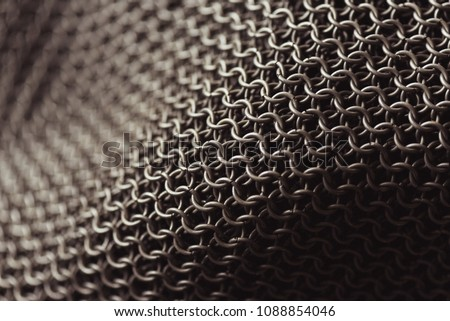 Background. Chain Armor - Shutterstock ID 1088854046