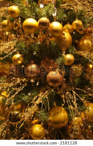 background christmas tree decorations