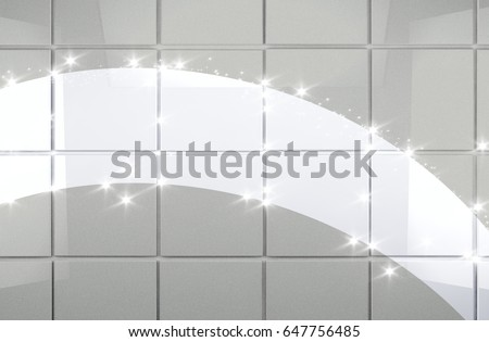 background cleaning concept and housework.Clean tile wall bathroom 3d illustration