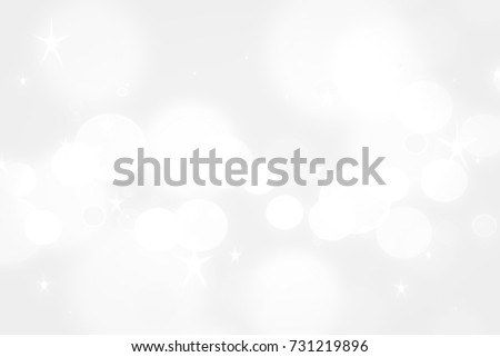 background clear white shine christmas or clean xmas with light bokeh